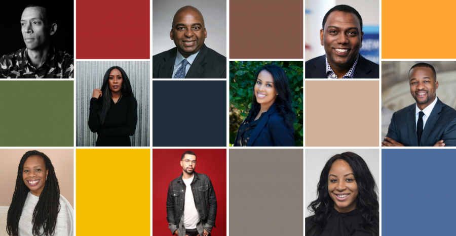 collage - selected Black members of SIPA's alumni community