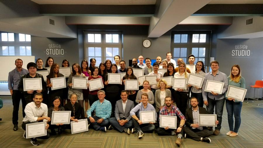Photo of global education technology challenge participants