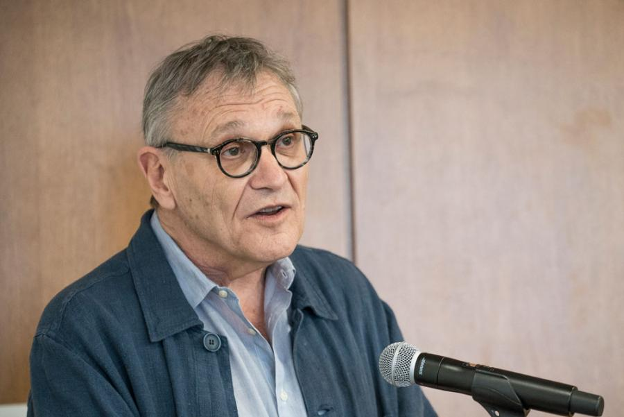 """Physician Rony Brauman, former president of Médecins sans Frontières, visited SIPA to talk about his new book, """"Humanitarian Wars? Lies and Brainwashing."""""""