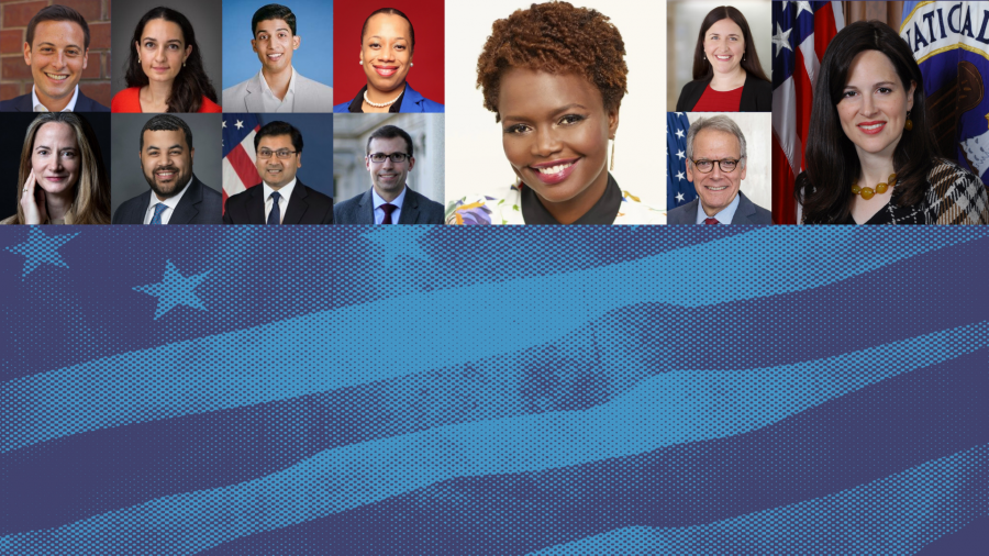 collage — selection of SIPA faculty and alumni who have joined the Biden administration.