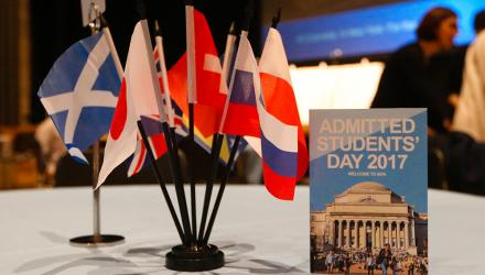 ASD 2017 featured tables with mini country flags as centerpieces