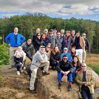 "On October 13, Professor Stephen Biddle led students in SIPA's International Security Policy concentration on a ""staff ride"" of the Civil War battlefield at Gettysburg."