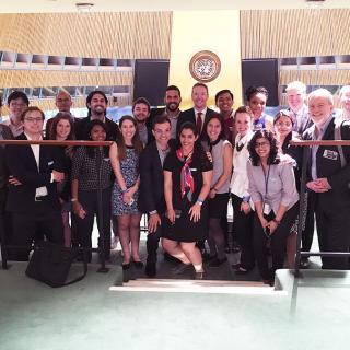 GPPN students and faculty visit the United Nations