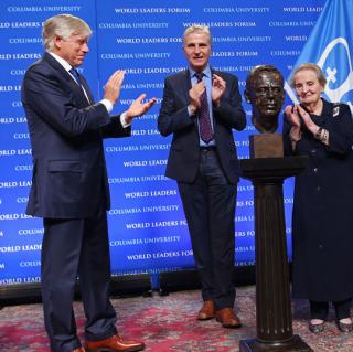 The Václav Havel Library Foundation gave Columbia a bust to commemorate the late Czech president.